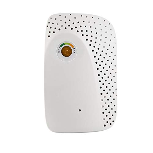 Read About HEALLILY Dehumidifier 150ml Portable Electric Mini Air Dryer for Office Bedroom Home Base...