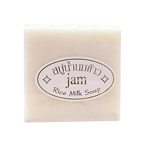 Allouli Glutinous Rice Milk Face Cleansing Soap Handmade Bar Collagen Vitamin Whitening Bathing