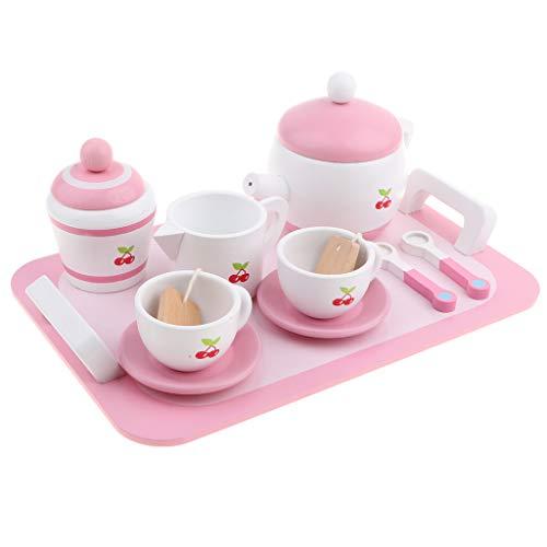 F Fityle Juego de Té Pink Toys - Juguetes para Juegos de Simulación para Niños - Juguetes de Cocina para El Desarrollo de Habilidades Finas
