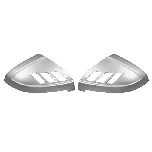 DSEB Tapa de Espejo retrovisor, para Audi A4 S4 RS4 A5 S5 RS5 Todos los Modelos 2017-2020 2pcs Cubierta de la Puerta del Lado del Coche Agregar en la página Mrror Cubiertas Trim,Chrome Silver