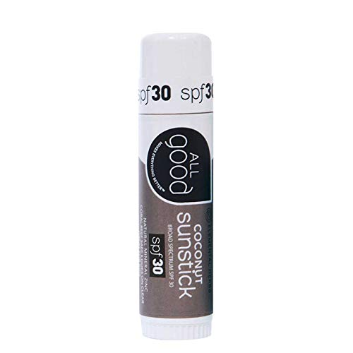 All Good Sunstick - Zinc Oxide Sunscreen for Face, Nose, Ears - Coral Reef Safe - Water Resistant -...
