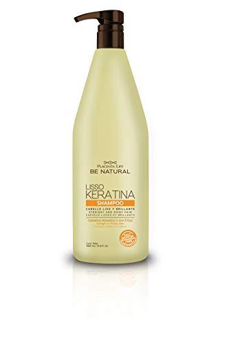 Be Natural - P-Life, Champú y acondicionador (Liso Keratina) 1000 ml. - 1 unidad