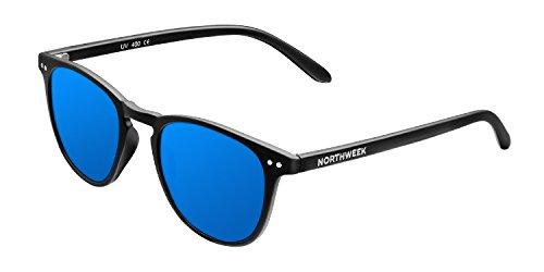 NORTHWEEK Wall Jibe - Gafas de Sol para Hombre y Mujer, Polarizadas, Negro/Azul