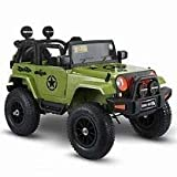 12v kids electric ride on car jeep 2 seater with remote control pad