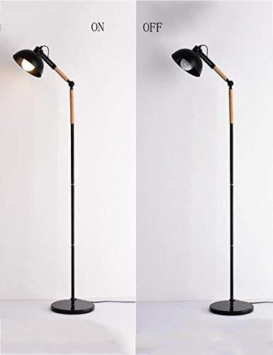 Staande lamp in Scene Multiple voor gebruik in het huishouden, verticaal strijkijzer, van hout, continentale woning, creatieve woonkamer, eenvoudige verlichting, inclusief decoratie voor Terra, B, B-D B