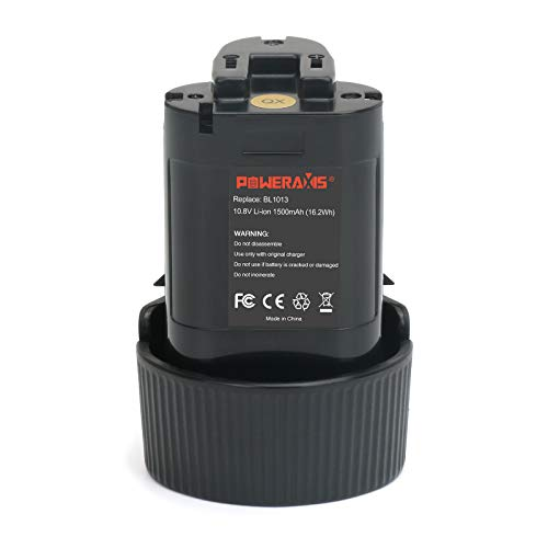 Batterie BL1013 Makita 10.8V,POWERAXIS DF330D Batteria Litio TD090D per Makita BL1014 194550-6 194551-4 195332-9 DF030DW DF030DWX DF330D TD090DWE TD090DWX TD090DWXW LCT203W