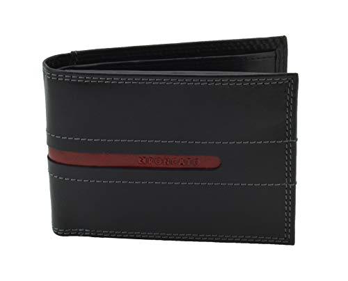 RONCATO portemonnee voor heren, van echt leer, dun en meervoudig met geschenkdoos