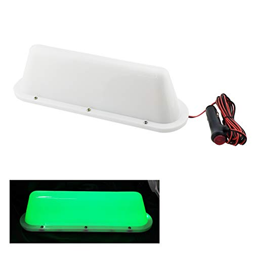 Green LED 12V Car Taxi Cab Roof Top Sign Light Lamp Magnetic with 3m Cigarette lighter power cords