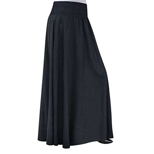 Kanpola Vintage Lang Plissierter Rock Damen Maxirock Elastischer Hohe Taille AbendröCke Sommerrock