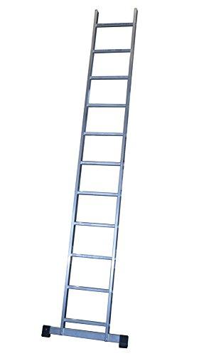 ALTIPESA Escalera Profesional de Aluminio de Apoyo Simple con Barra estabilizadora 11 peldaños Serie Basic