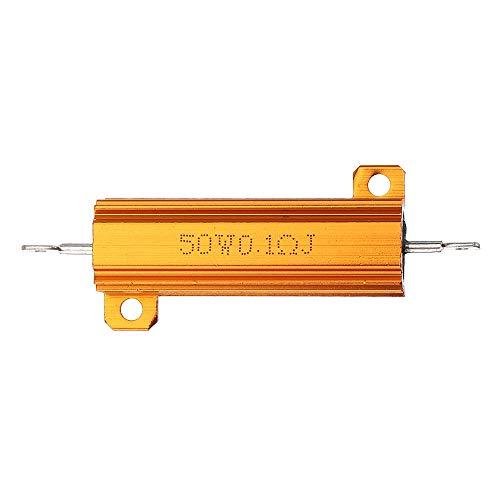 JJBHD Electronic Accessoires & Supplies RX24 50W 0,1r 0.1RJ Metall Aluminiumgehäuse Hohe Leistungswiderstand Goldene Metallschalengehäuse Kühlkörper Widerstandswiderstand Um Ihnen die Qualität der Exz