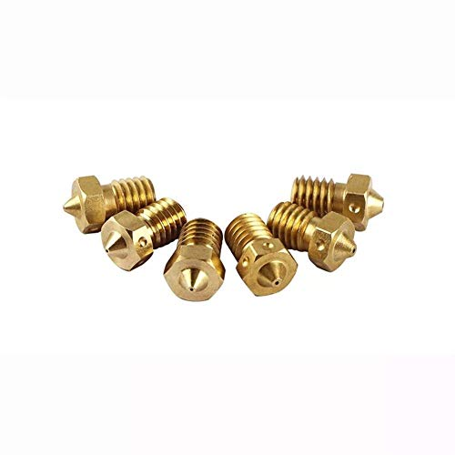 Printer Accessories 3D Printer Parts, 6 Pcs Brass V6 Nozzles 1.75mm Each Hotend Nozzle for 3D Printer