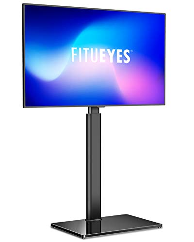 FITUEYES TV Standfuss TV Ständer Fernsehstand für 32 bis 60 Zoll Flach & Curved Fernseher Drehbar höhenverstellbar Max.VESA 400x600