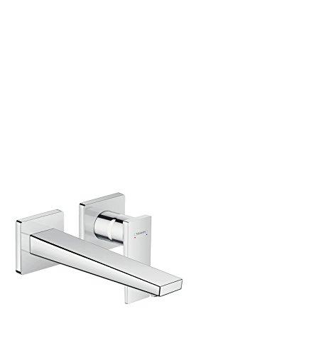 Hansgrohe 32526000 Hans53BMetropol-Miscelatore monocomando per lavabo, Montaggio a Parete con beccuccio da 22,5 cm, Cromato, Cromo, Auslauflänge 225mm