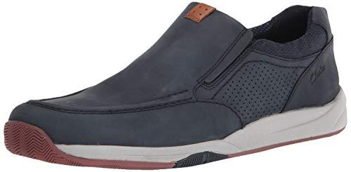 Clarks Men's Langton Step Sneaker, Navy Nubuck, 9