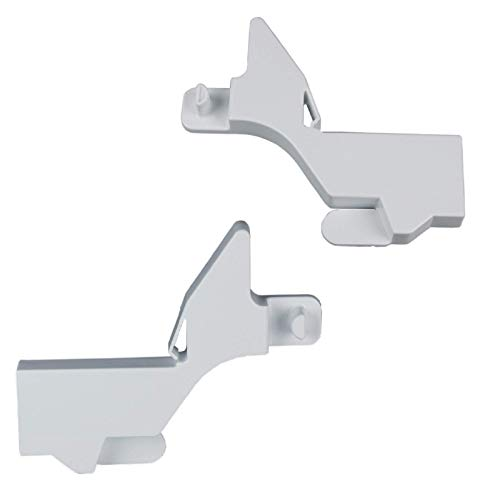 DL-pro 2x Halter rechts und links Gefrierfach passend für Bosch Siemens Neff Constructa Balay Gefrierfachklappenhalter 657908 und 657906 für Gefrierschrank