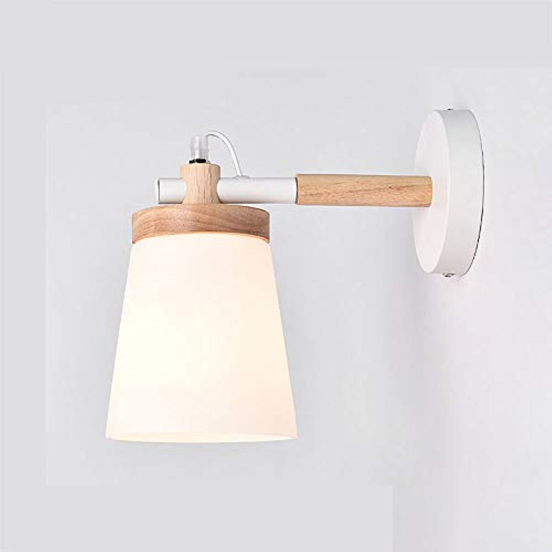 ZR Europische Schlafzimmer nachttischlampe massivholz Studie esszimmer Wohnzimmer lesewand Lampe Glas Gang Nordic Wandleuchte