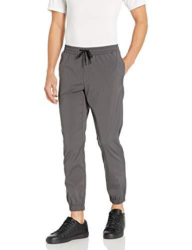 Marca Amazon - Peak Velocity Pantalones de chándal Tejidos athletic-pants, gris, US...