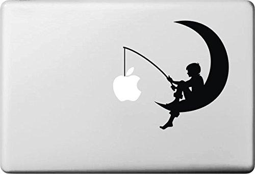 VATI Hojas Catch Creativo extraíble Apple En El Arte Negro Luna calcomanía Etiqueta Piel para Apple Macbook Pro Aire Mac 13'15' Pulgadas/Unibody 13'15' Pulgadas portátil
