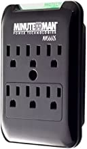 Minuteman MMS660S Slim line Series Surge Protector, AC 120 V, 1.8 kW, 6 Output connectors