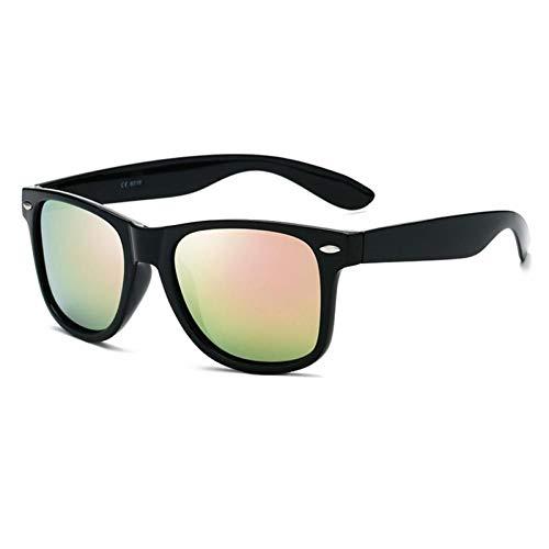 ZZOW Gafas De Sol Polarizadas Cuadradas Clásicas para Hombre, Gafas Retro Coloridas con Espejo len, Gafas para Mujer, Gafas De Sol para Uñas, Gafas Uv400