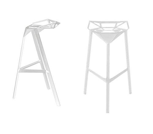 Magis - Stool One sgabello di uno bianco laccato altezza 84 cm