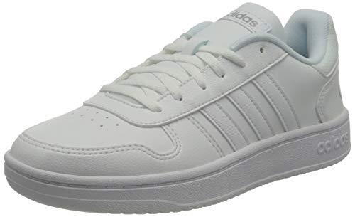 adidas Hoops 2.0, Zapatillas de bsquetbol Mujer, FTWR White FTWR White Grey Two, 41 1/3 EU