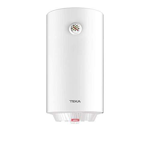 Teka | Termo electrico de 80 litros | EWH 80 C | Consumo medio para 2-4 personas | Tanque esmaltado Zafire | Color Blanco