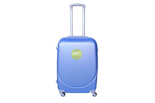 Maleta Mediana DE 65 x 44 x 25 cm 4 Ruedas 360º Liso Maletas RIGIDAS Material ABS Azul Claro