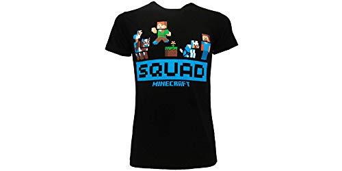 Fashion UK T-Shirt für Erwachsene und Kinder, Original, Squad Alex Steve T-Shirt, Schwarz, Schwarz L