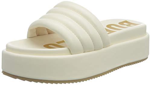 Buffalo Damen ROVENA Flache Sandale, Cream, 38 EU