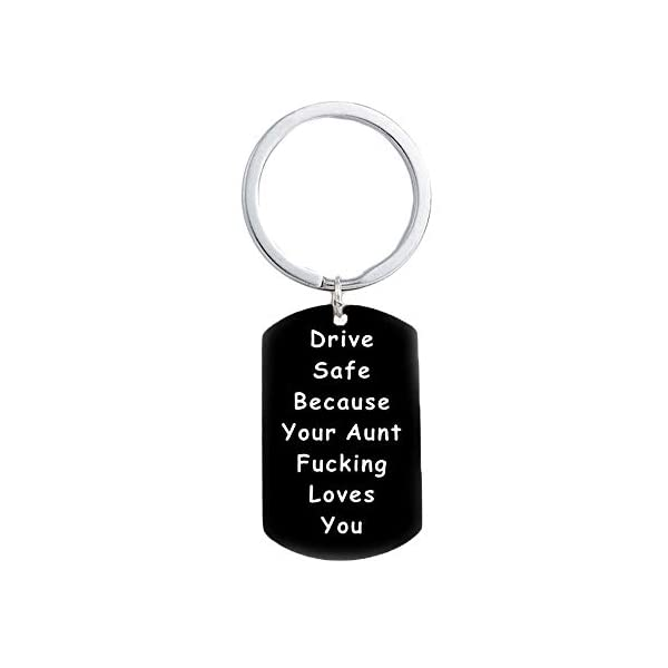 Hibetek Daughter Son Gifts Keychain Driver Safe Keychain Because Your Mom Fucking Love You Pendant Graduation Jewelry from Mom Dad