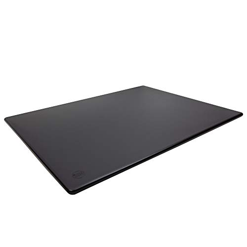 Commercial Black Plastic Cutting Board, Extra Large - 24 x 18 x 0.5 Inch, BPA Free, NSF Approved