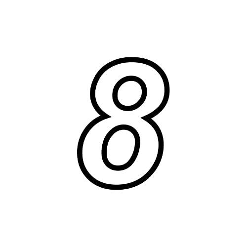 SCSHY Engomada del Coche 11 Cm * 15,9 Cm Divertido Número 8 Vinilo Pegatina Decorativa para Coche Calcomanía Gráfica Negra/Plateada