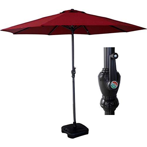 ZDYLM-Y Parasol de Jardin Exterieur, 2.7m extérieur Table Parapluie avec manivelle, Polyester et 8 côtes Robustes, ombrelles, parasols pour Le Jardin, terrasse, Cour, Piscine