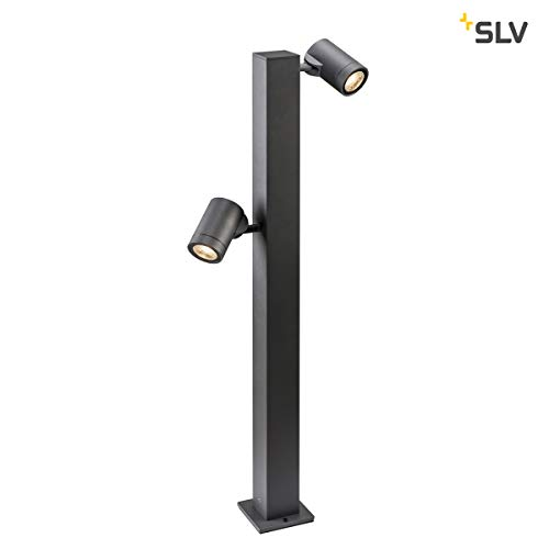 SLV Helia Double Pole, LED Outdoor Stehleuchte, anthrazit IP55 3000K Leuchte, Aluminium, 16 W