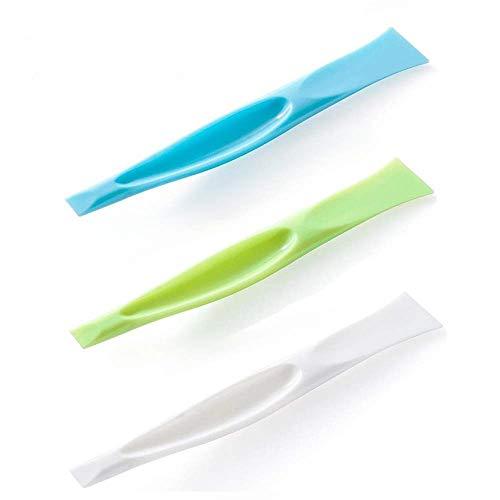 Herramienta de Limpieza para Cocina - Multifunción Sin Arañazos Limpieza Rascador de Plástico de Parrilla de Barbacoa, Abrelatas, Etiquetas, Pegatinas, Chicle, Abrebotellas - 3 Piezas