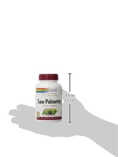 Solaray Guaranteed Potency Saw Palmetto Extract, Veg Cap (Btl-Plastic) 320mg | 120ct