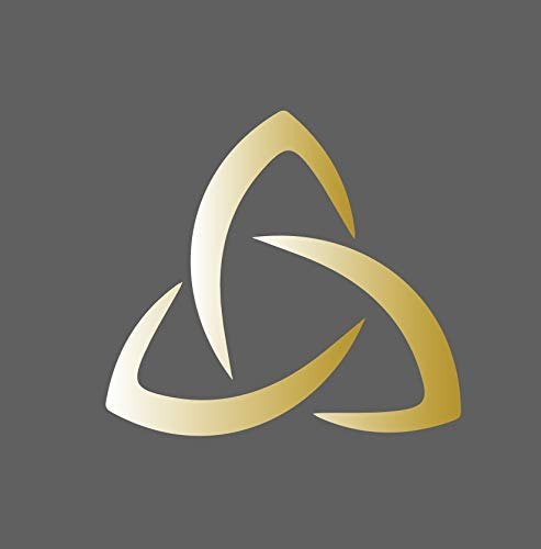 Triquetra Sign Trinity Knot Celtic Triple Goddess Symbol Decal Sticker for Car Truck SUV Laptop Computer (Gold, 4.5 in)