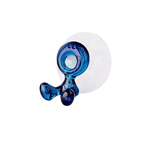 Rameng Saugnapf-Halterung Zahnbürste Tür Zahnbürste Wandhalterung Saugnapf Zahnpasta Rack Speicher -, blau, 5.5X3.5X5.5CM