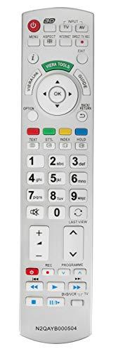 ALLIMITY N2QAYB000504 Fernbedienung Ersetzt für Panasonic TX-L32D28EP TX-L32D25E TX-L32G20E TX-P42GT20E N2QAYB000673 N2QAYB000504 TX-L37D25E TX-L37G20E TX-P42GW30S TX-L37V20E TX-L42D25E