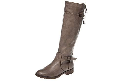 Mustang 1265-510 Femmes Biker Boots, schuhgröße_1:38 EU, Farbe:Beige
