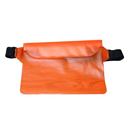 tyrrdtrd Sac banane imperméable en PVC pour sports de natation plage Orange Grande capacité