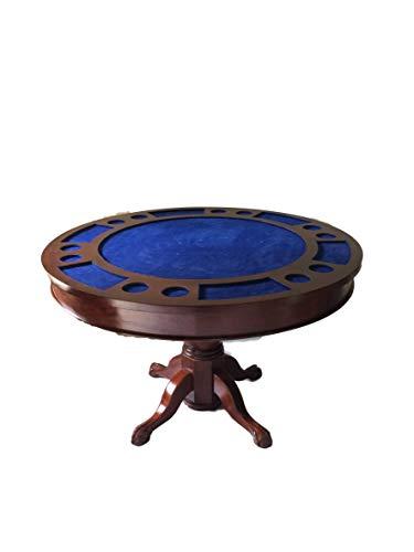Kunibert Table de poker en bois massif rond Largeur 120 cm