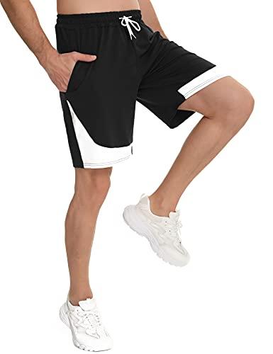 Doaraha Pantaloncini Uomo Sportivi Cotone,Shorts Uomo Sportivi,Pantaloncini Corti Uomo,Short Running Uomo,con Coulisse e Tasche Jogging Fitness Palestra