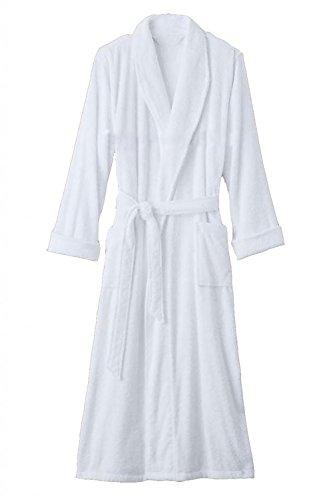 Hotel Luxury Reserve White Terry Velour Bathrobe For Men