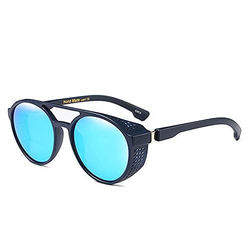 Gafas de sol retro Steampunk Vintage Round Shell Steam Punk Metal Gafas de sol hombres mujeres gafas de sol
