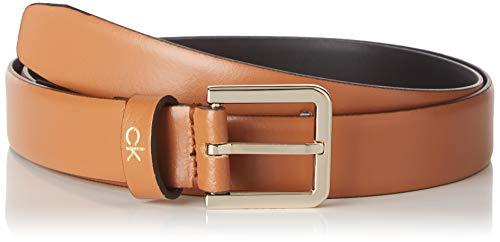 Calvin Klein Damen Ck Essential Belt 2.5cm Gürtel, Mehrfarbig (Cuoio Gae), Large (Herstellergröße: 95)