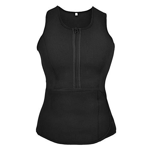Keenso Sport Schlankheitsweste, hochwertige atmungsaktive Stoff Yoga Weste Schweiß Body Shaping Weste für Lauf Fitness Yoga(L)