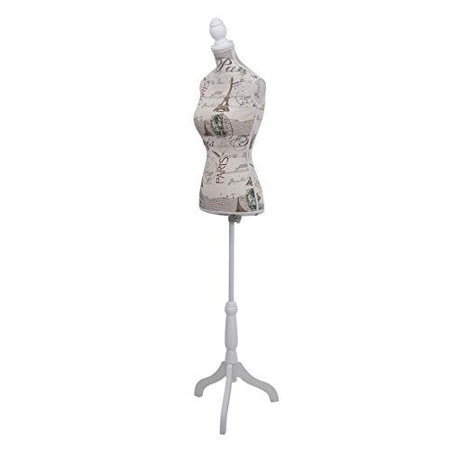 Mannequin de Couture de Tailleur Buste Torse féminin T220 ~ Mousse, Motif Paris